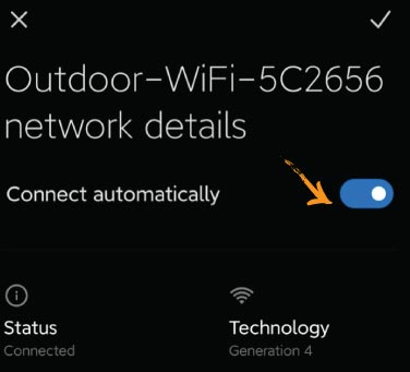 4G Router WiFi Auto Join Android